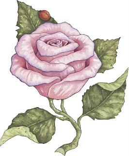Rosa para imprimir