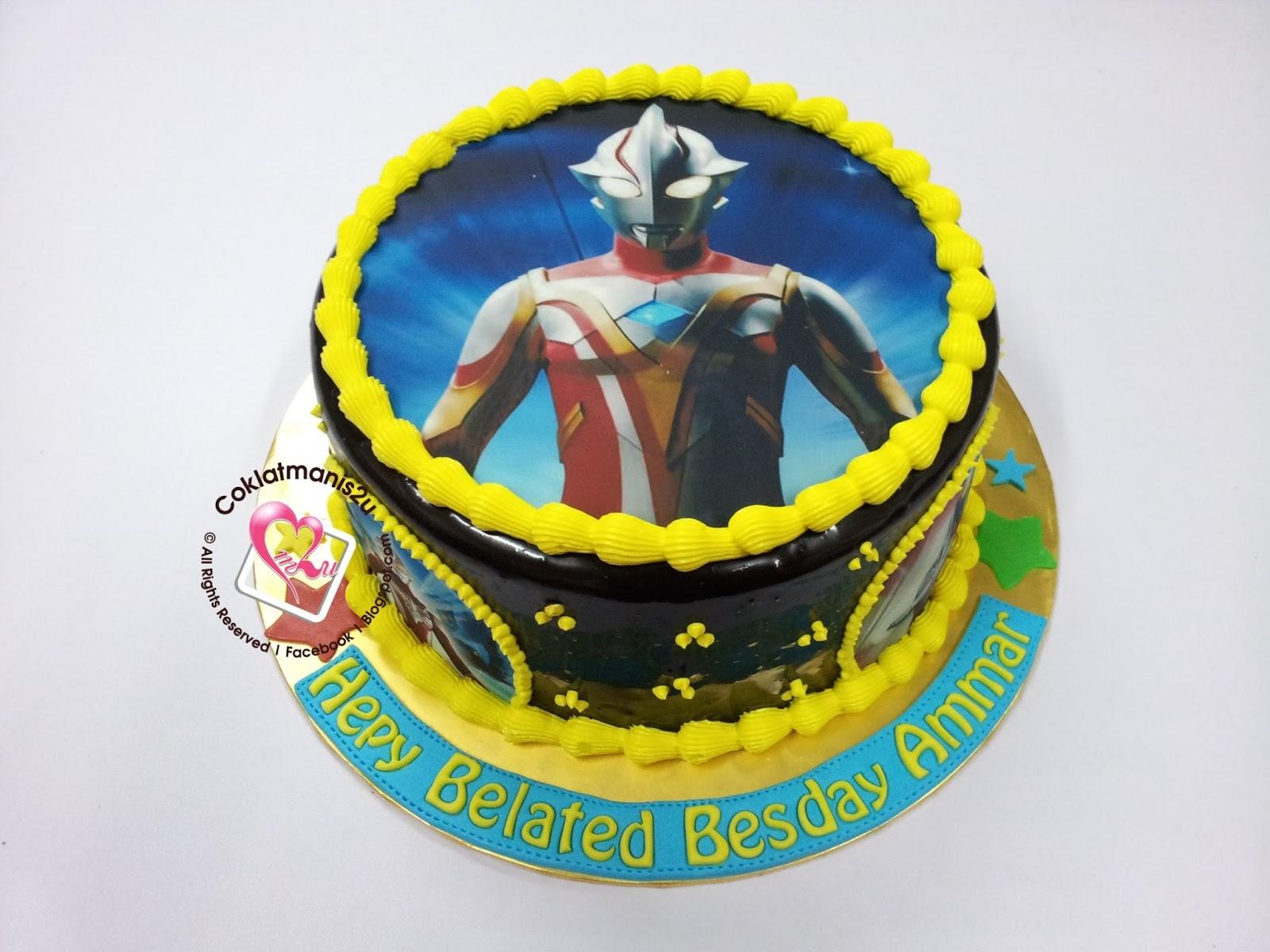 coklatmanis2u Birthday Cake Edible Image Ultraman