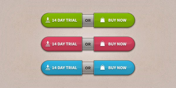 Trial-Buy Buttons PSD