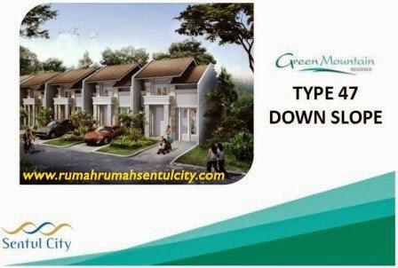 Rumah Tipe 47 Green Mauntain Sentul City thp 3 R2sc