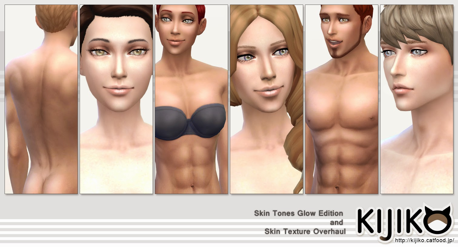 My sims 4 blog skin tones glow edition and skin texture overhaul by