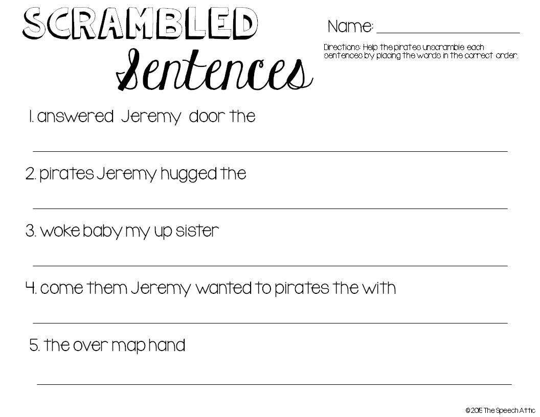 worksheet Scrambled Sentences Worksheets Luizah Worksheet And – Sentence Scramble Worksheets
