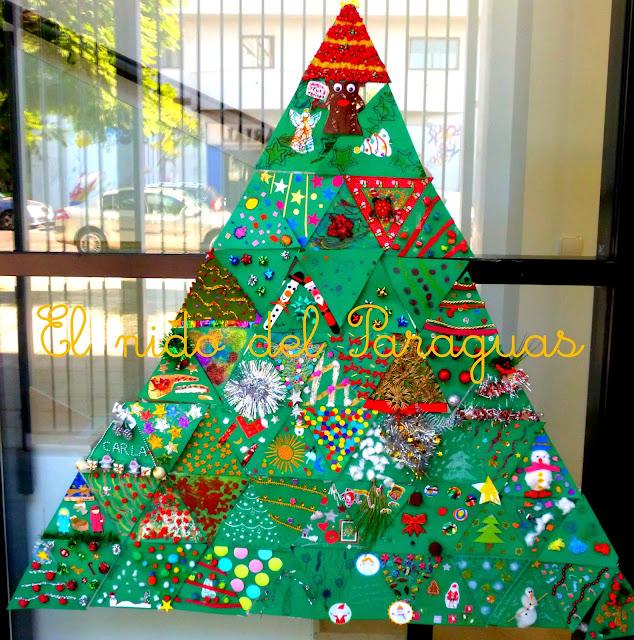El nido del paraguas nuestro rbol de navidad - Arbol navidad cartulina ...