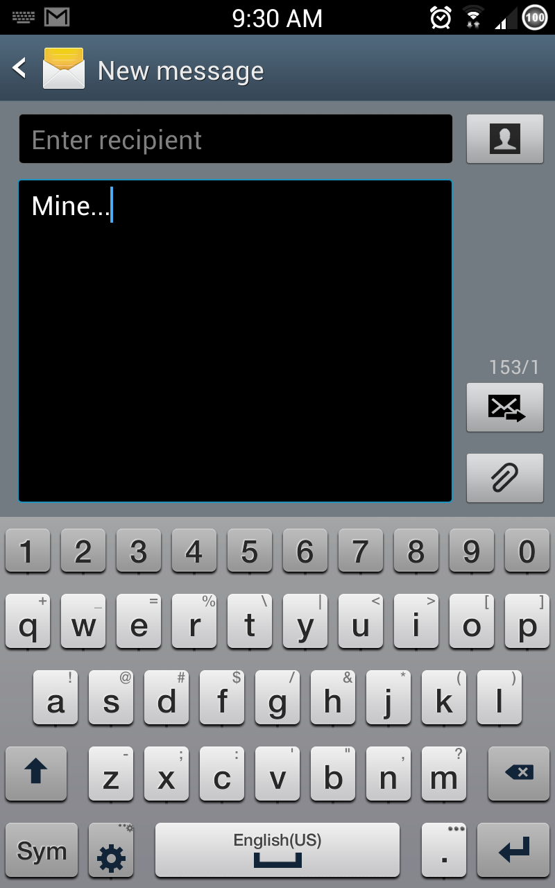 S4 Keyboard for Galaxy Note GT-N7000