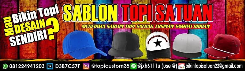 Custom topi satuan, Bikin Topi custom Bandung, Sablon Topi Satuan
