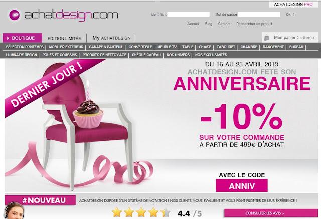 panorama du net achatdesign l ve 1 million d 39 euros. Black Bedroom Furniture Sets. Home Design Ideas