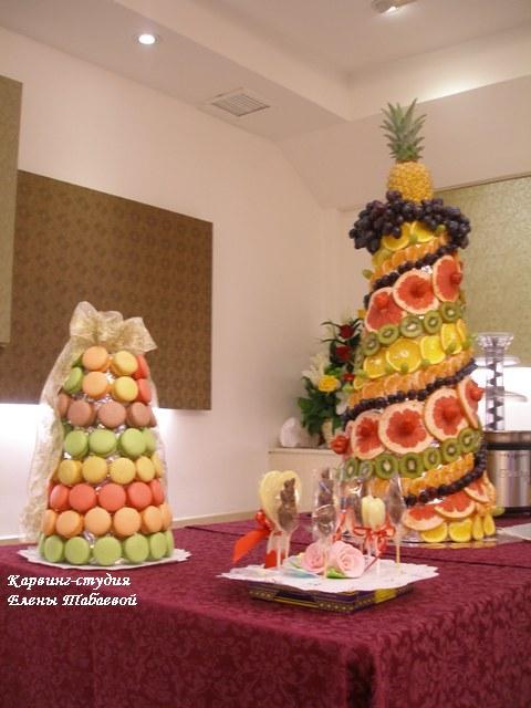 башня из фруктов и пирожных южно-сахалинск