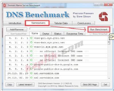 trik mempercepat internet dengan DNS Benchmark