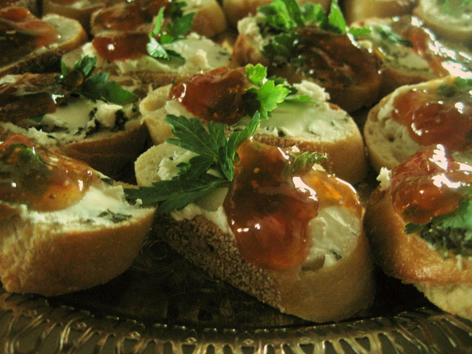 When building a Crostini, you want CREAM, ACID, HERB AND CRUNCH . One ...