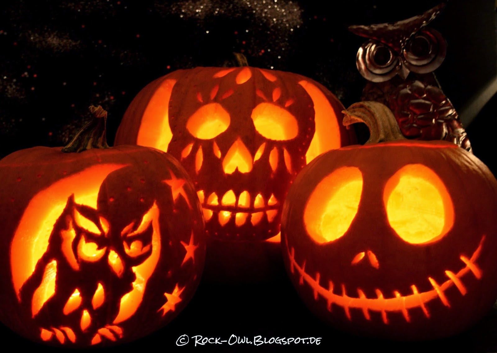 Rock and Owl Blog: Kürbisparade: Rock, Owl und Jack Skellington ♥