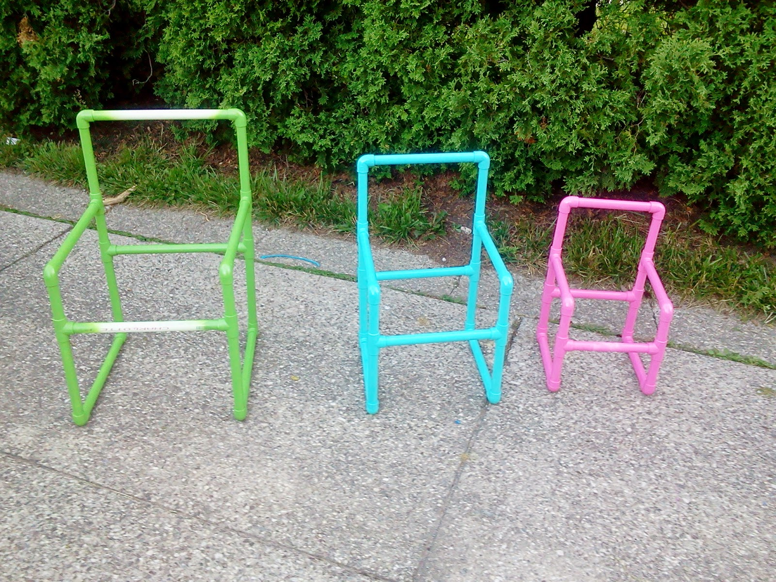 The 5th Brick House The Right PVC Pipe chairs in 3 sizes