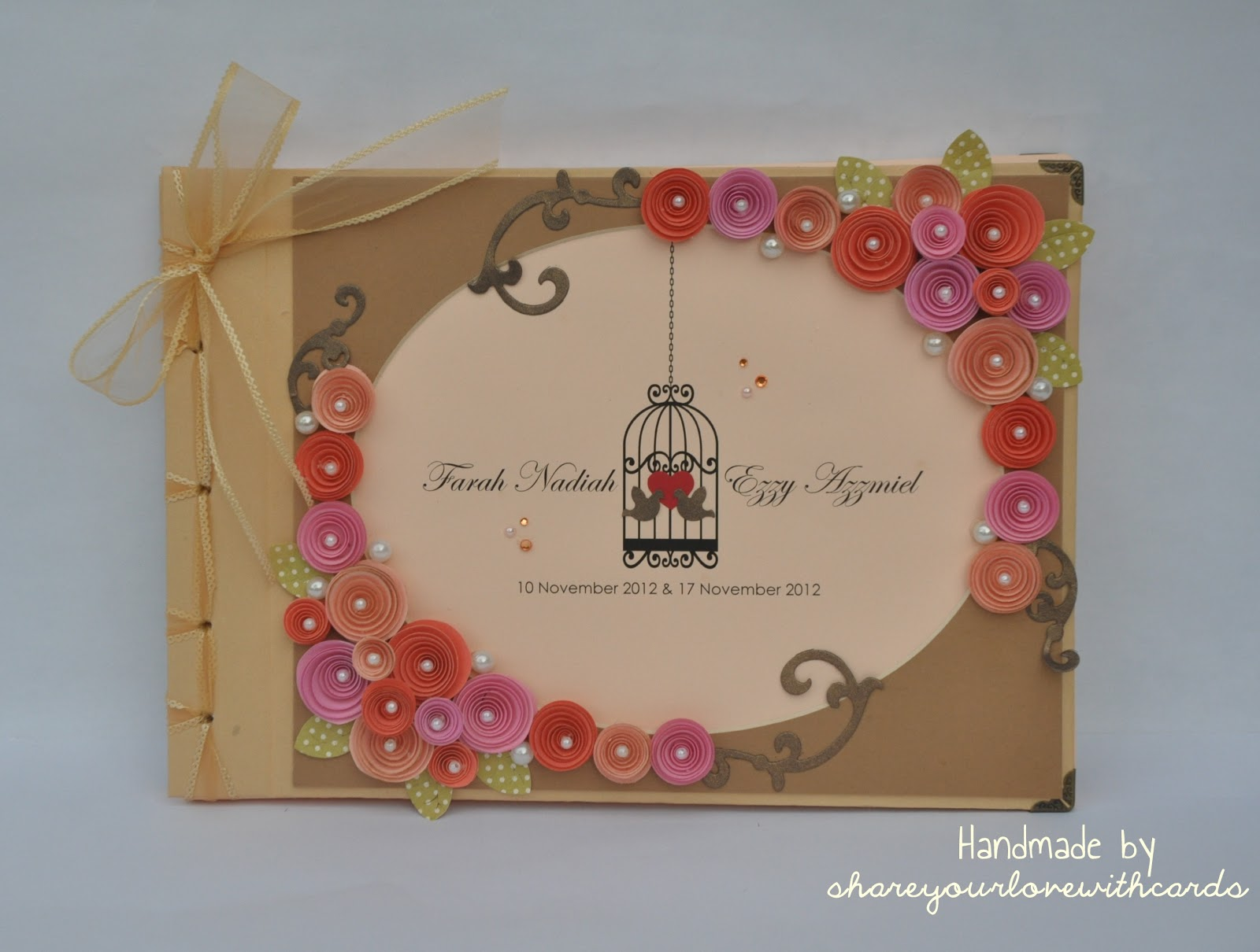 Diy Cover Guest Book : Lady dyot diy guest book