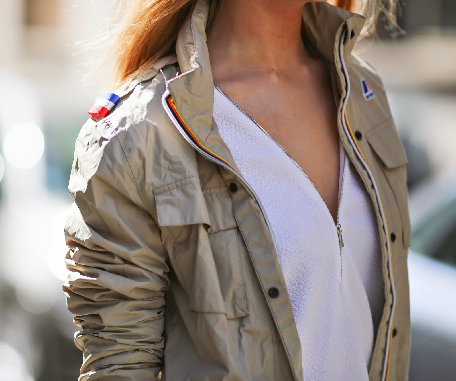 military chic, k-way, zara, hermès, sandro, frame, streetstyle, fashion blogger, paris