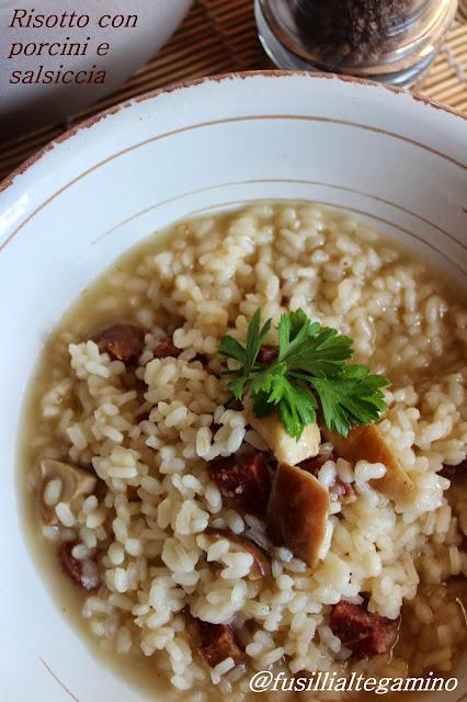 risotto con porcini e salsiccia