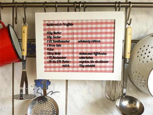 DIY, Rezeptrahmen, Küche, Anleitung, Tutorial, Blog, Holunderweg18
