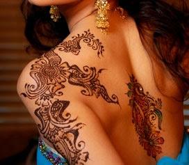 Stylish Mehndi Henna Body Tattoos
