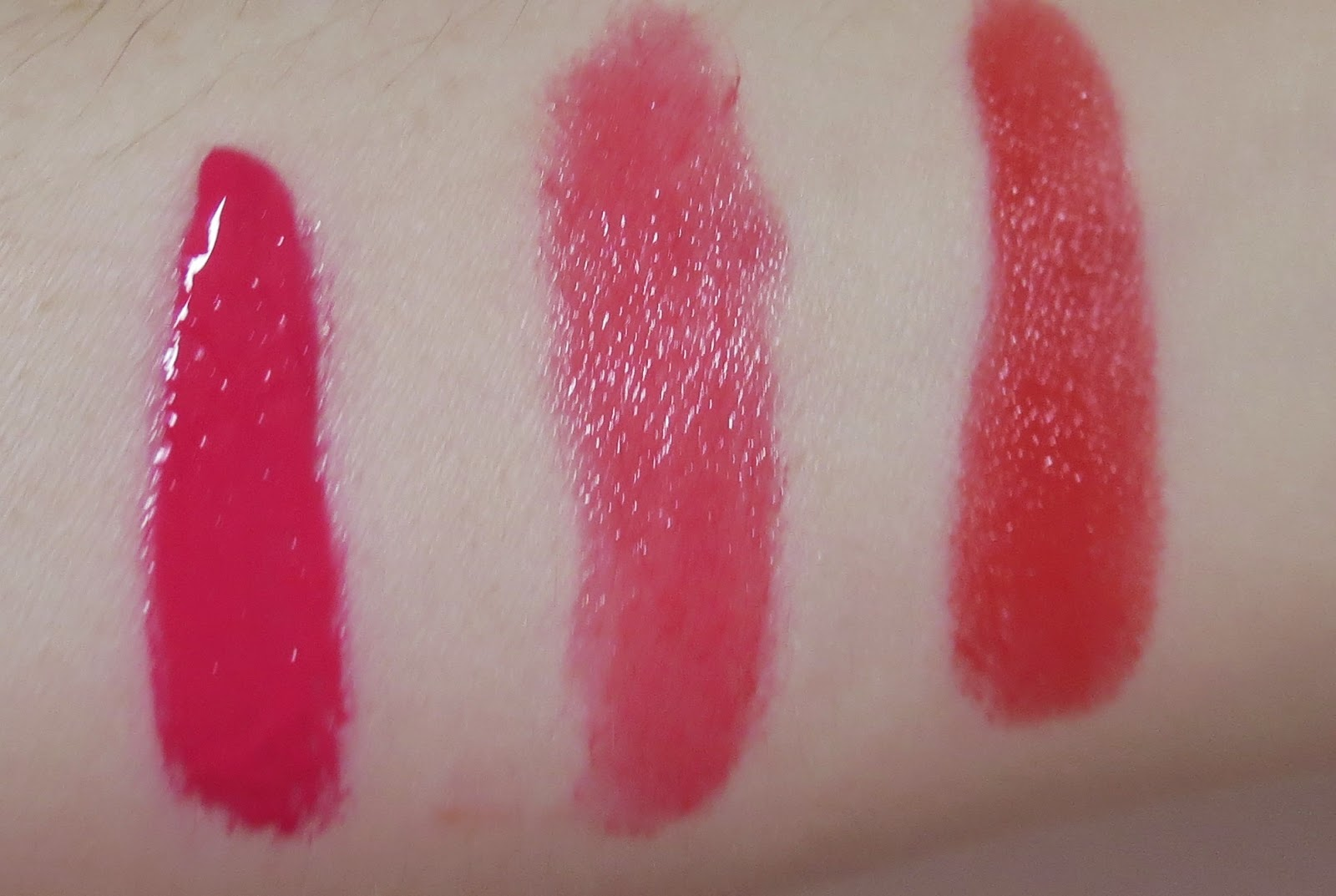 a picture of lip swatches