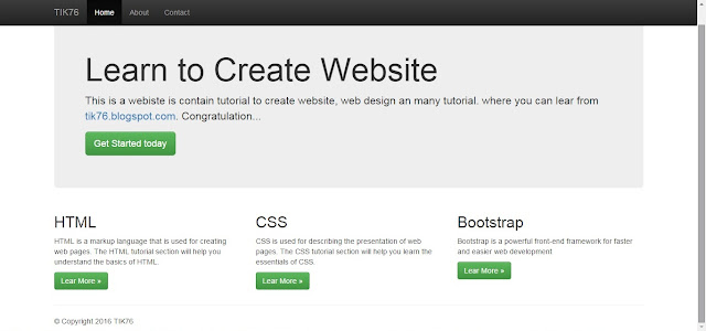 Bootstrap Basic Tutorial: Creating a Simple Fixed Layout