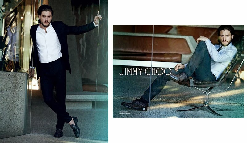 Game of Thrones actor Kit Harington fronts the Fall/Winter 2014 campaign of Jimmy Choo, photographed by Peter Lindbergh.