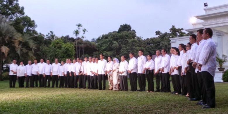 Daftar Menteri Kabinet Kerja Jokowi-JK