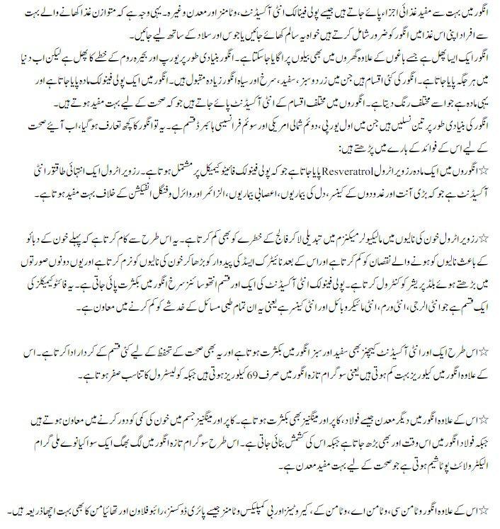Angoor ke faide in urdu