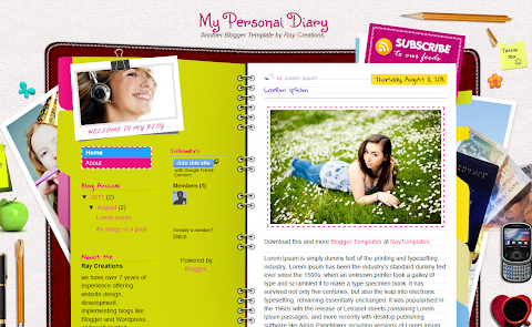 My Personal Diary Blogger Theme