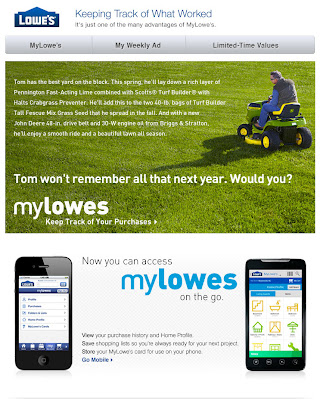 June 1, 2012 Lowe's email