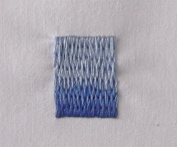 Textile Arts Now The Long And Short Satin Stitch