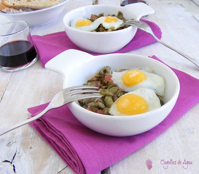 Habas con jam n y huevos cogollos de agua - Habas tiernas con jamon ...