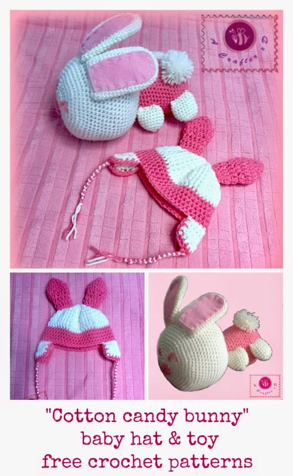 crochet bunny toy, crochet bunny hat, crochet bunny baby hat