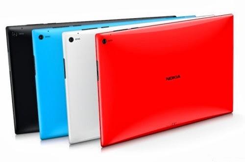 Il tablet Nokia lumia 2520 sarà disponibile in nero, blu, rosso e bianco