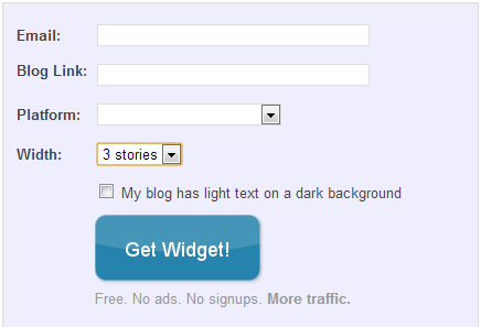 Get widget  LinkWithin