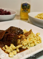 Sauerbraten (German Beef Roast with gingersnap sauce)