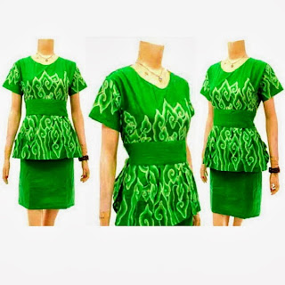 DB3118 Mode Baju Dress Batik Modern Terbaru 2013