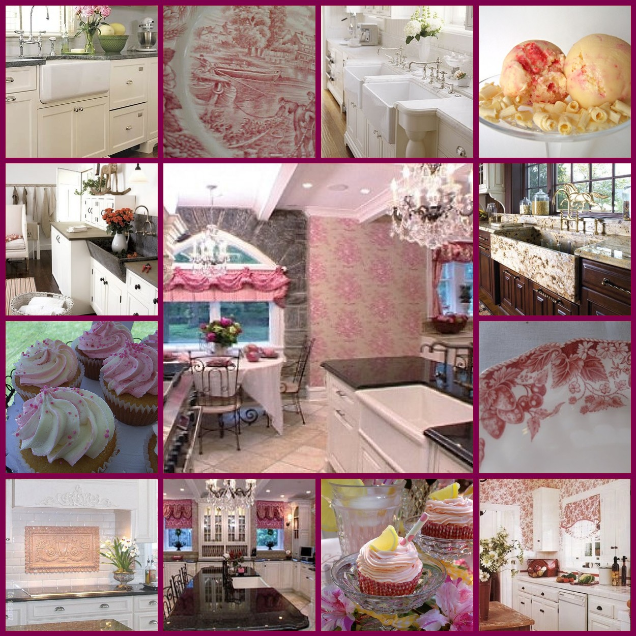 Dream Kitchen Rockland Maine: Estelle's: A Dream Kitchen...Pink French Country Toile