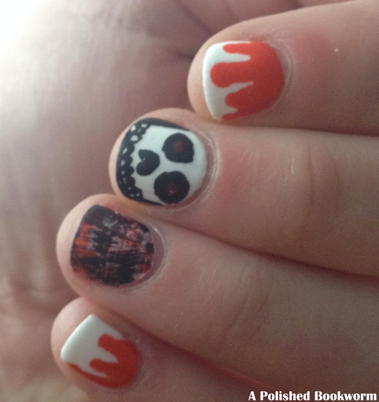Halloween Tutorial Evil Skull Nail Art