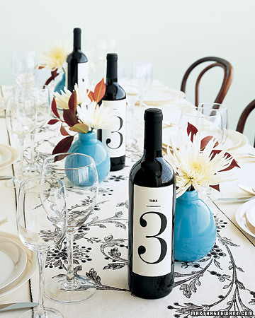 Wine Bottle Table Numbers Serving wine at your wedding or rehearsal