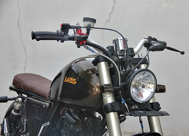Yamaha Scorpio Scrambler | The Brownie | Yamaha Scrambler | Scrambler | Custom Scrambler | Scrambler Exhaust pipes
