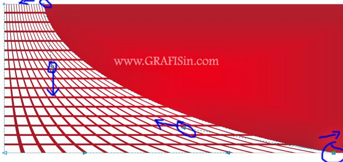 Mengatur Objek Envelope pada Cara Membuat Background