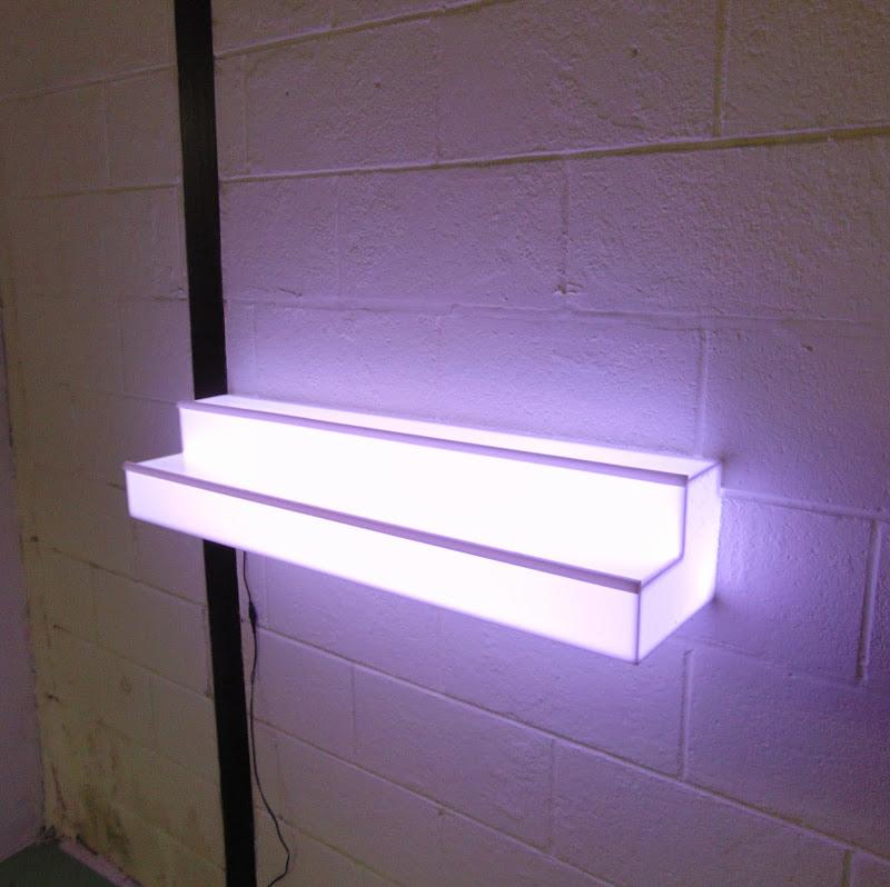 Light-Up Floating Wall Shelf