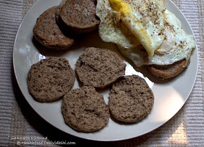 buckwheat flour English muffins for a gluten free breakfast for bread eaters | a pan baked bread