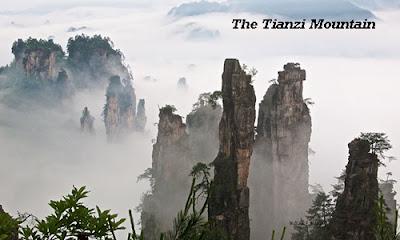 On the top of the Tianzi mountain