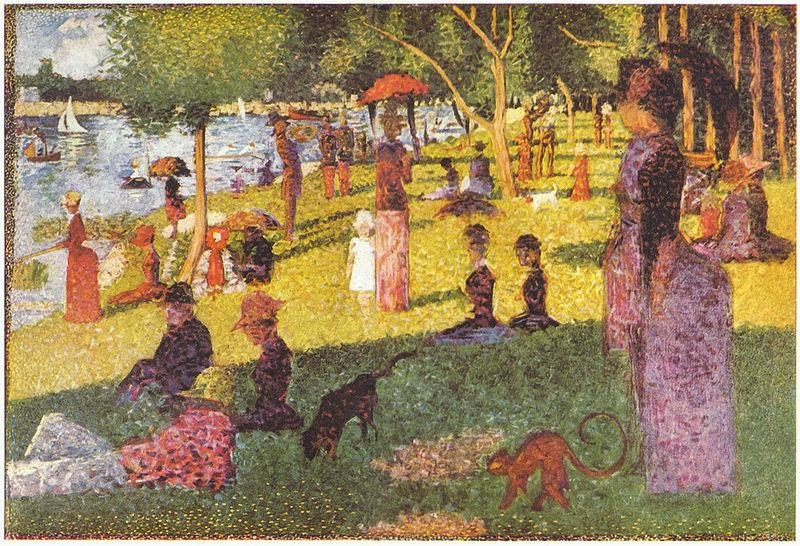 an analysis of the painting a sunday afternoon painted by georges seurat In sunday afternoon on the island of the grande jatte (fig 189), georges seurat has  seurat painted thousands of tiny dots on.