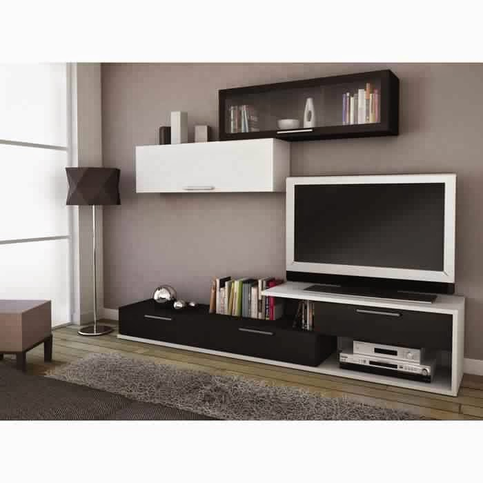 meuble tv avec rangement but solutions pour la. Black Bedroom Furniture Sets. Home Design Ideas