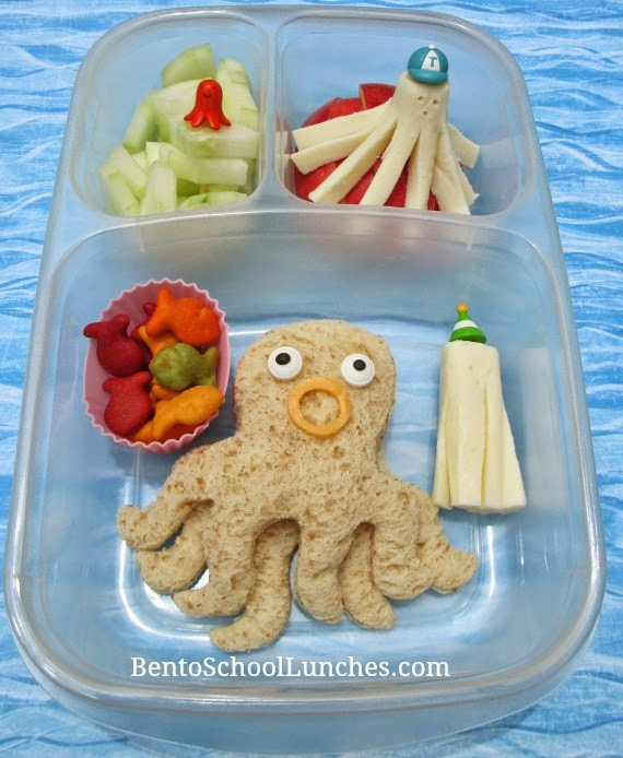 Octopus, octodog bento school lunches