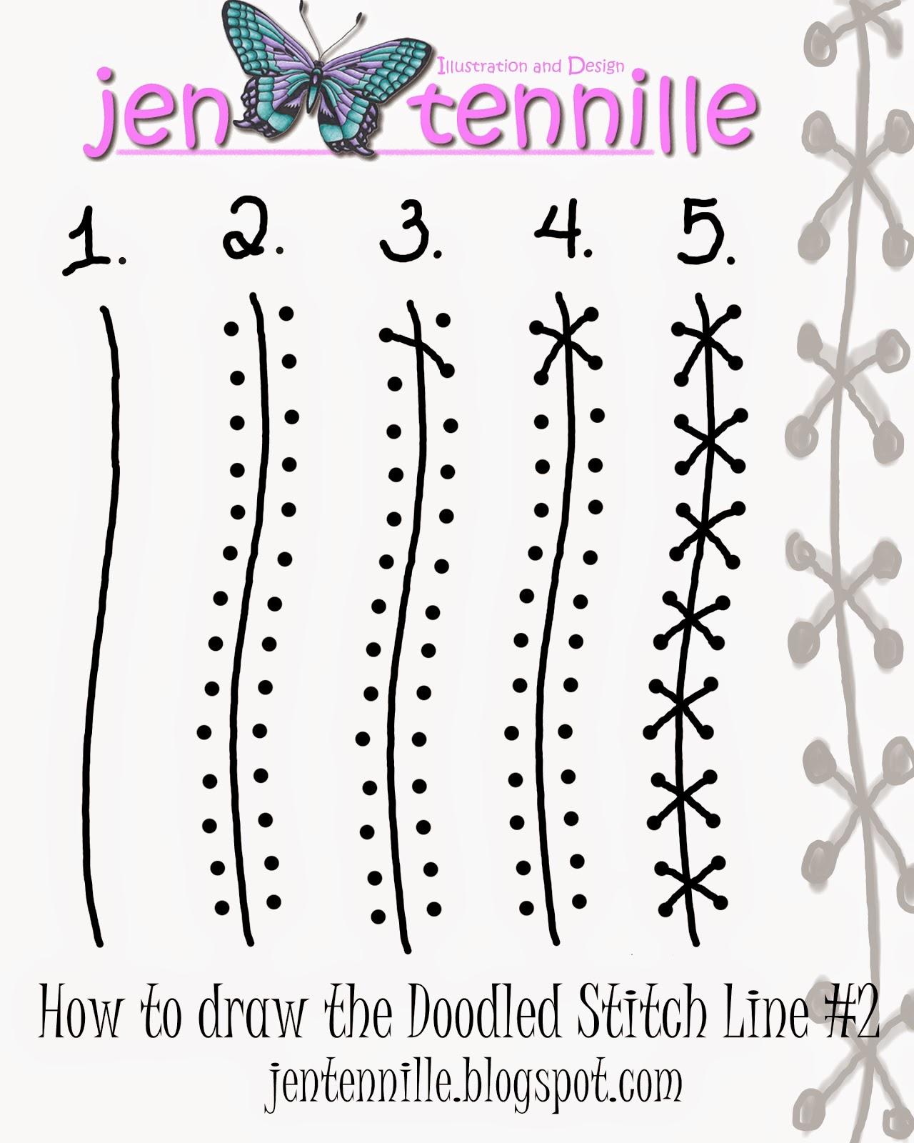 jen tennille s draw doodle style free tutorial doodle stitch line 2