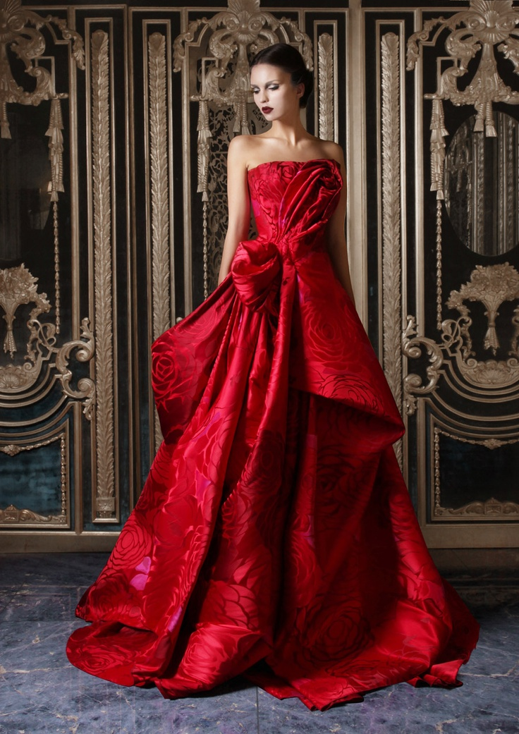 14 red glamour evening gawn for christmas 2015 for Haute couture red