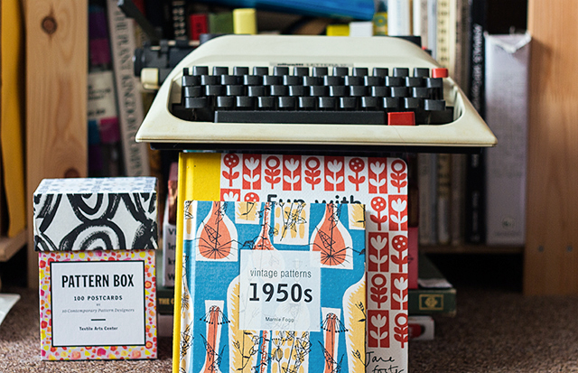 typewriter and pattern books