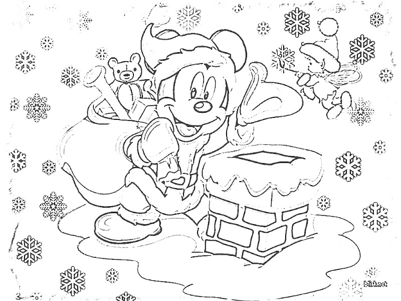 Coloring Pages Christmas Disney title=