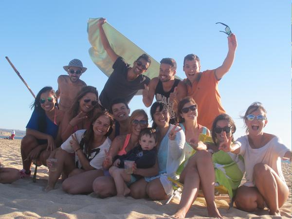 Festa e o pé na areia